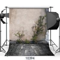 telón de fondo de fotografía de jardín al por mayor-Fondo de fotografía retro Fondos de pared de ladrillo Apoyos para Portrait Garden Corner Personalizar fondo de pantalla para Photo Studio Vinyl 3D