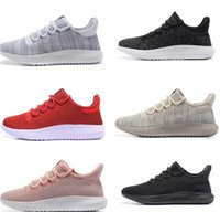Wholesale woman boots 11 - Hot Limited Sale Tubular Shadow Knit For Women Men Running Shoes 3D 350 Boost Sneaker Sports Boots Lightweght US Size5-11