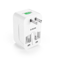 internationale stromadapter-konverter groihandel-2018 All in One Universal International-Stecker-Adapter World Travel Ladegerät AC-Adapter mit AU US Großbritannien EU-Konverter-Stecker
