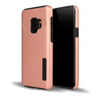 Wholesale s4 hard cases - 2in1 Brushed Hybrid Case For Samsung Galaxy S9 S9 Plus Note 8 S8 Plus S4 S5 S6 S7 Edge Armor Rugged Shockproof Hard PC+TPU Slim Cover