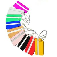 Wholesale airlines metal - Aluminum Alloy Airline Label keychain Travel ID Bag Tag Metal Hang Tag with Stainless Steel String Luggage Tag Card Holder CCA8710 300pcs