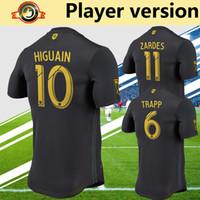Wholesale columbus jersey resale online - player version MLS columbus soccer jersey black football shirt ZARDES HIGUAIN JONATHAN TRAPP football uniforms