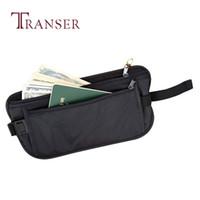 кошельки с высоким дизайном оптовых-TRANSER Women High Quality Famous Design Fashion Security Bags Wallet Casual Traveling Storage Zipper Waist Bag Solid Aug21