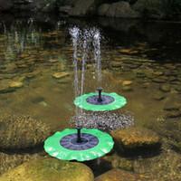 ingrosso fontane d'acqua serbatoi di pesce-Fontana di foglie di loto Energia solare senza spazzole Pompa sommergibile per acqua Decorazione Laghetto Cascate Fish Tank Bird Bath