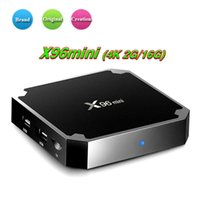 Wholesale android 16gb pc tv resale online - 1 X96 Mini TV BOX GB GB Amlogic S905W Quad Core Smart Box Android Media Player Support Wifi DLNA D