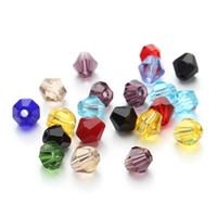ingrosso perline diamanti sciolti-Branelli allentati di perline fai da te perline di cristallo accessori di gioielli 4mm diamante misto perline braccialetto ornamento supporto FBA trasporto di goccia G949F