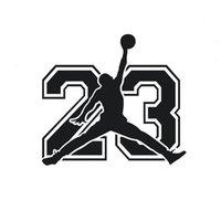 vinyle de basket achat en gros de-La plupart des basketball sacré palyer sticker vinyle décoratif Michael 23 CA-390