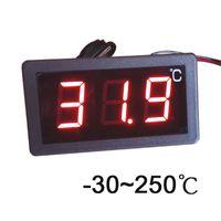 экран 12v оптовых--30-250 Celsius degree digital thermometer large screen LED display thermostat 12V/24V/220V power