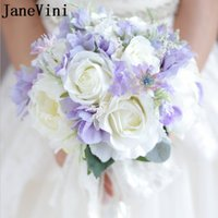 ingrosso mazzi di peonia per matrimoni-JaneVini Elegant Crystal Flowers Matrimoni Bouquet Spilla Artificiale Rose Groom Boutonniere Mazzi Sposa Sposa Strass Peonia