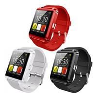 akıllı izleme senkronizasyon çağrıları toptan satış-Akıllı Bluetooth İzle U8 iPhone Android Telefonlar Için Smartwatch Cevap Aramalar Aramaları Dial SMS MMS Kamera Çok Fonksiyonlu Sync Akıllı Saatler