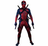 ingrosso deadpool costume-Deadpool 2 Cosplay Wade Wilson Tuta Costume Cosplay Costumi di Carnevale di Halloween