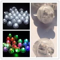 mini linternas led al por mayor-Forma redonda lámpara de globo mini LED bola Globo de luz para la decoración de la fiesta de Navidad de la linterna de papel de la boda