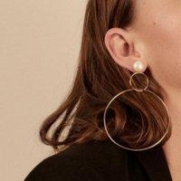grandes boucles d'oreilles créoles achat en gros de-2018 Simple personnalité Hoop boucles d'oreilles pour les femmes mode bijoux de couleur or à la mode rétro grand rond cercle boucles d'oreilles
