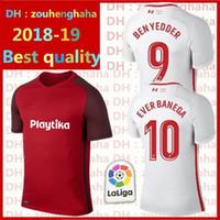 Wholesale ben shirt - Sevilla Soccer Jersey BEN YEDDER Football uniform 2018 2019 home away EVER BANEGA GEIS J.NAVAS YEDDER CORREA MURIEL Football Shirt