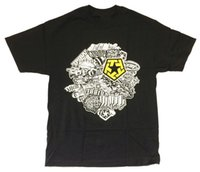 ingrosso magliette grafiche gialle-Magliette da vendere Graphic O-Neck Tribal Gear Logo giallo Collage Short-Sleeve Mens T-Shirt