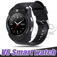 Wholesale full remote - V8 Smart Watch Sport SmartWatch With 0.3M Camera SIM IPS HD Full Circle Display For Android System