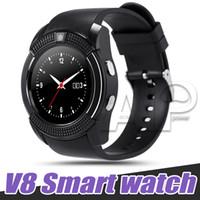 smartwatch hd großhandel-V8 Smart Watch Sport SmartWatch mit 0,3 M Kamera SIM IPS HD Full Circle Display für Android-System