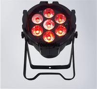 ingrosso luci di par cans-8 pezzi 7 pz 18 W RGBWAUV 6in1 LED par luce led par può illuminare rgbwauv decorazione LED Stage Lights