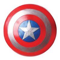 защитные игры оптовых-Мстители Капитан 32см Капитан Америка Соберите Щит Косплей Фильмы Игрушка Красный Фигурку Видеоигра