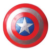 montagem de jogos venda por atacado-Os Vingadores Capitão 32 cm Capitão América Montar Escudo Cosplay Filmes Toy Red Action Figure Video Game