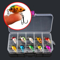 Wholesale 1 box color cm g Crank Plastic Hard Baits Lures Fishing Hooks Hook Artificial Bait Pesca Fishing Tackle Accessories