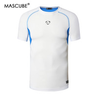 Wholesale uv protection shirts - MASCUBE New Camping Running Breathable Clothing Men Fitness Quick Dry Short Sleeved Shirts Male UV Protection T-shirts