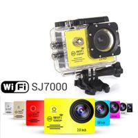 Wholesale mini camera waterproof online - Sport camera SJ7000 WiFi P Action Camera P Full HD LCD m Waterproof DV video Sport extreme mini waterproof cam recorder