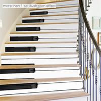 piano mural achat en gros de-Pour Art DIY Stairway Autocollants Piano Autocollants Automne Étage Stickers Décor Stickers Autocollants Étanche Décor À La Maison