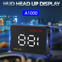 Wholesale car head up speed display for sale - Car HUD GPS Speed Projector Auto Head Up Display Vehicle Windshield Digital Speed Projector Safety Driving Alarm A1000 for OBDII