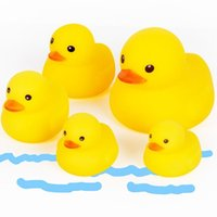 rubber duck bathroom toy 2018 - Baby Bath Toys Soft Rubber Duck Animals Car Boat Kids Water Toys Squeeze Sound Spraying Beach Bathroom For Children
