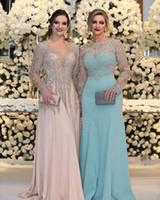 robes décolleté bateau achat en gros de-Robes de soirée arabes plus la taille 2018 col en V décolleté bateau longues robes de bal simples faites sur commande robes de grossesse