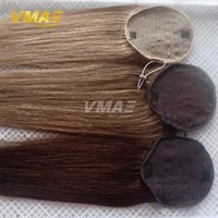 Wholesale Human Straight Ponytail Hair g Natural Non Remy Hair horsetail tight hole Clip In Drawstring Ponytails Hair Extensions