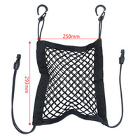 şemsiye koltuk toptan satış-Elastik Araba Koltuğu Saklama Çantası Organizatör Şişe Doku Şemsiye Tutucu Asılı Çanta Cep Siyah Hooks ile Otomatik Mesh Net Bagaj
