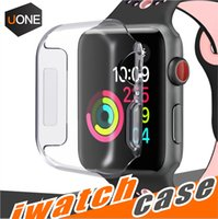 Wholesale apple watch case online - For Iwatch Case mm mm D Touch Ultra Clear Soft TPU Cover Bumper Apple Watch Series Screen Protector for New Apple Watch Cases