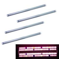 geführt wachsen helle farbe großhandel-380-800nm Vollspektrum-LED-Wachstumsleuchte LED-Wachstumsröhre 8Ft T5 T8 V-förmige Integrationsröhre für medizinische Pflanzen und Blütenfrüchte Farbe Pink