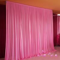 gâteaux d'anniversaire de mariage d'argent achat en gros de-Toile de fond de 3m * 3m pour toutes les couleurs Festival de rideaux de fête Célébration de mariage Scène de fond Fond Drapé Drapé Mur Valane Backcloth