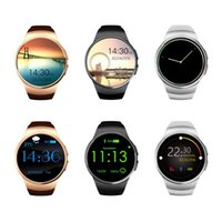 Wholesale golden watch price online - High Quality cheap price KW18 Bluetooth Smart Watch inches IPS Round Touch Screen Water Resistant KW18 Smartwatch Phone with SIM Card