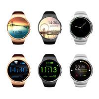 goldener uhrenpreis großhandel-Qualitäts-preiswerter Preis KW18 Bluetooth intelligente Uhr 1.3 Zoll IPS runder Touch Screen wasserdichtes KW18 Smartwatch Telefon mit SIM-Karte