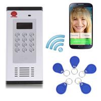 система управления rfid оптовых-3G и GSM квартире домофон система контроля допуска поддержки, чтобы открыть дверь на звонок и RFID SMS-команды дистанционное управление строба Консервооткрывателя