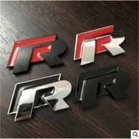 r 3d logo großhandel-10 Stück / Packung 3D Public Sport R Logo RLINE Metall Aufkleber R Aufkleber Metall R Aufkleber