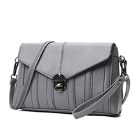 Wholesale cheap vintage clutches - Hot Women Messenger Bags Leather For Sale Famous Fashion Grey Small Women's Clutch Cheap Crossbody Bag High Quality New 2018 A519