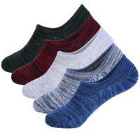 peúgas atléticas da tripulação venda por atacado-LASPERAL Antiderrapante Athletic Cotton Invisible Crew Sock Summer No Show Meias Para Homens Meias Confortáveis de Fitness Tripulação