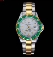 Wholesale sinobi stainless steel black - Have Logo relogio masculino mens watches Luxury wrist fashion Designer Black Dial Calendar leather steel Folding Clasp Master Male clock