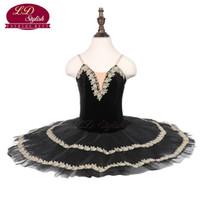 fd973dca0 Wholesale girls black ballet dress online - Girls Black Ballet Tutu Stage  Wear Adult Ballet Dance