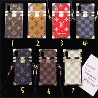 Wholesale lanyard plastic case - For iPhone 8 8plus Luxury Fashion Luxury Lanyard Brand English Alphabet iPhone 7 6 6S 7plus Shell