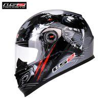 capacete de corrida completa venda por atacado-Capacete LS2 Capacete Da Motocicleta Rosto Cheio FF358 Corrida Casco Moto Casque Motor Do Motor Muitas Cores