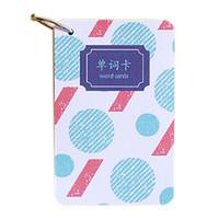 ingrosso mini notebook blu-1 pz Fogli portatili Carino Modello di carta Parola Memo Pad Ufficio Ufficio Chancery Mini Pocket Notebook, blu
