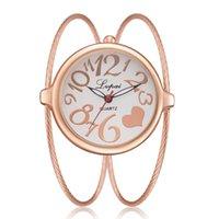 ingrosso disegno a quarzo-Recentemente il braccialetto delle donne guarda il disegno del cavo che disegna il grande orologio del quarzo del braccialetto dell'orologio del quadrante all'ingrosso 6 colori