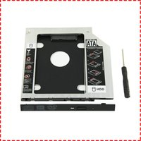 asus için ssd toptan satış-Evrensel 9.5mm sata SATA 2nd SSD HDD Sabit Disk Caddy Adaptörü DELL HP Lenovo ThinkPad ACER Ağ Geçidi ASUS için Tepsi Muhafazaları