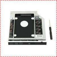 disco duro lenovo thinkpad al por mayor-Universal 9.5 mm SATA a SATA Discos duros de la segunda unidad de disco duro del disco duro de HDD Cajas para DELL HP Lenovo ThinkPad ACER Gateway ASUS